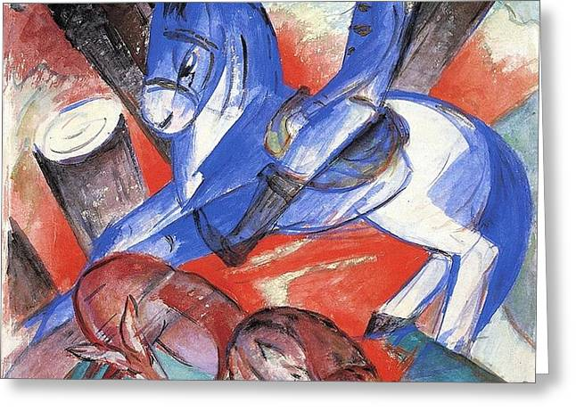 St Julian 1913 Greeting Card by Franz Marc