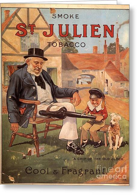 St Julien 1890s Uk Cigarettes Smoking Greeting Card by The Advertising Archives