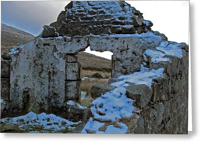 St Kevin's Window Greeting Card by Kathleen Scanlan