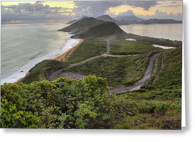 St Kitts Overlook Greeting Card