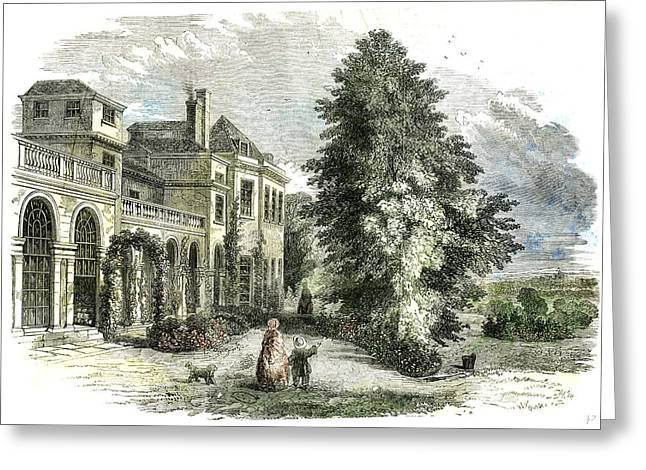 St Leonards On The Hill Near Windsor Uk 1852 Greeting Card by English School