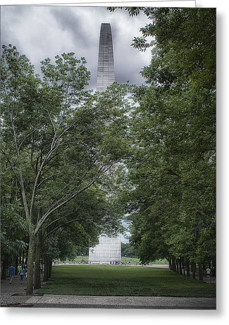 Greeting Card featuring the photograph St Louis Arch by Lynn Geoffroy