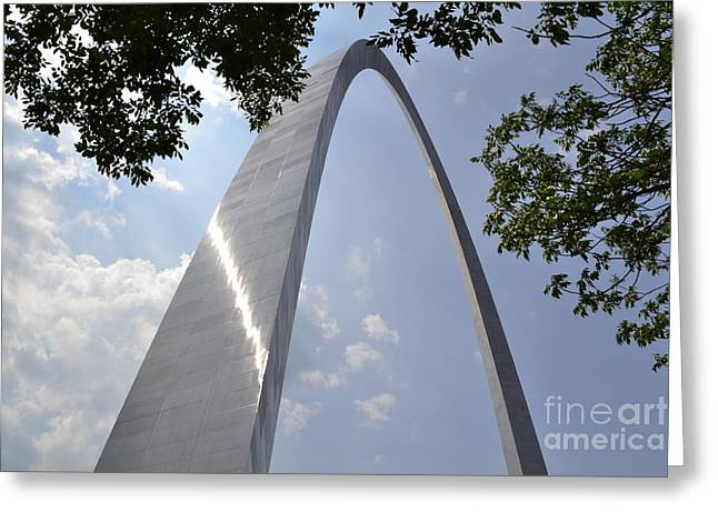 Greeting Card featuring the photograph St. Louis Arch by Utopia Concepts