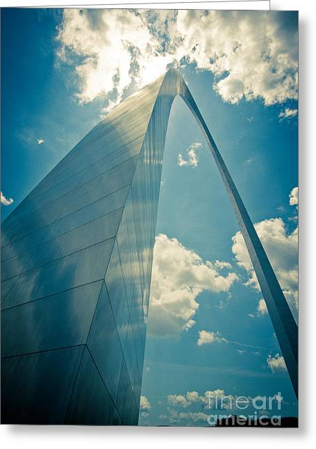 St. Louis Arch Greeting Card by Will Cardoso