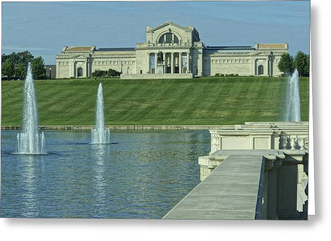 St Louis Art Museum And Grand Basin Greeting Card