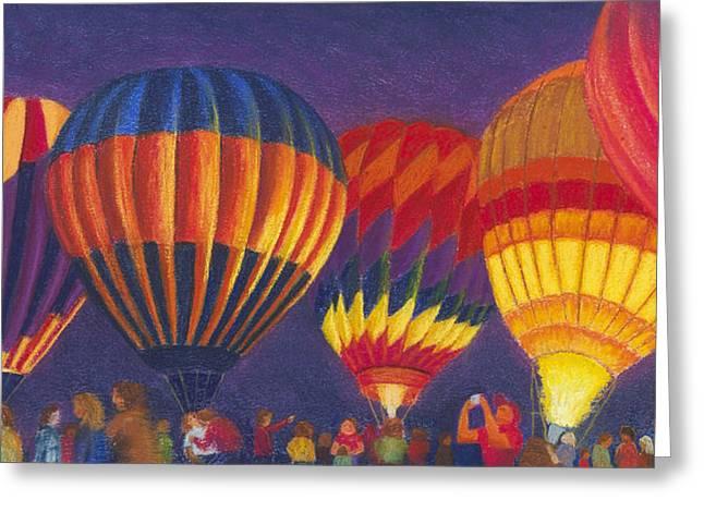 St Louis Balloon Glow Greeting Card