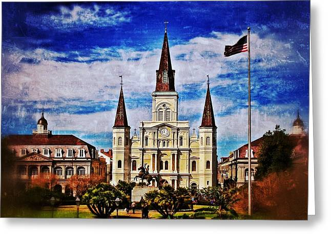 St. Louis Cathedral 2 Greeting Card