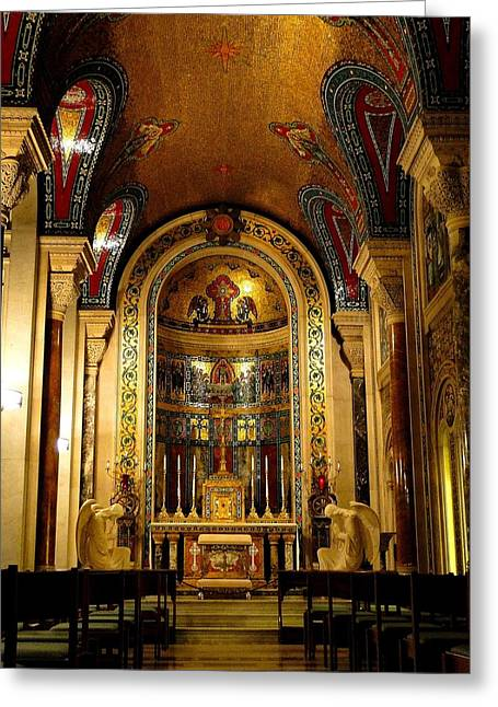 St Louis Cathedral Basilica Greeting Card by Cindy Croal