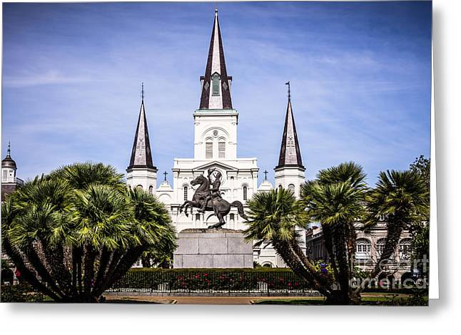 St. Louis Cathedral In New Orleans  Greeting Card