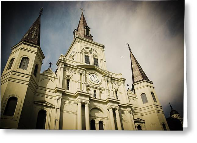 St Louis' Cathedral In New Orleans Greeting Card by Ray Devlin