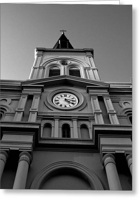 St. Louis Cathedral Perspective Greeting Card