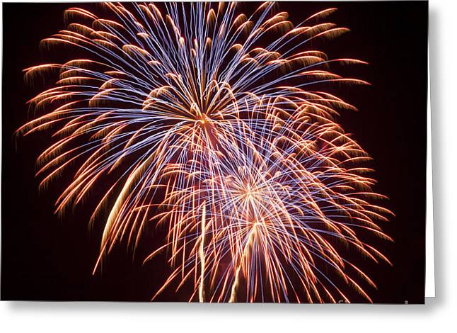 St Louis Fireworks Greeting Card by Philip Pound