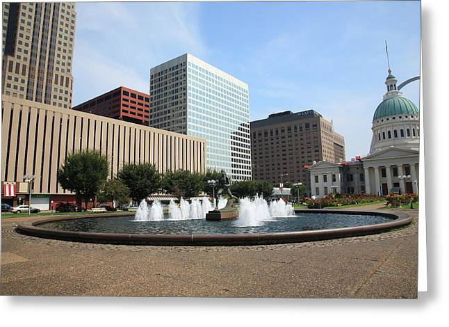 St. Louis Greeting Card by Frank Romeo