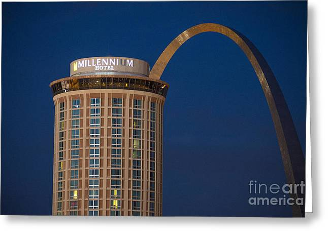 St. Louis Gateway Arch And Millennium Hotel Greeting Card