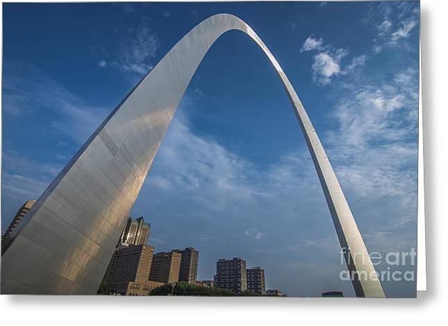 St. Louis Gateway Arch Sunrise Greeting Card