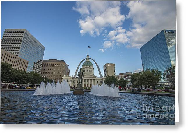 St. Louis Missouri 9885 Greeting Card by David Haskett