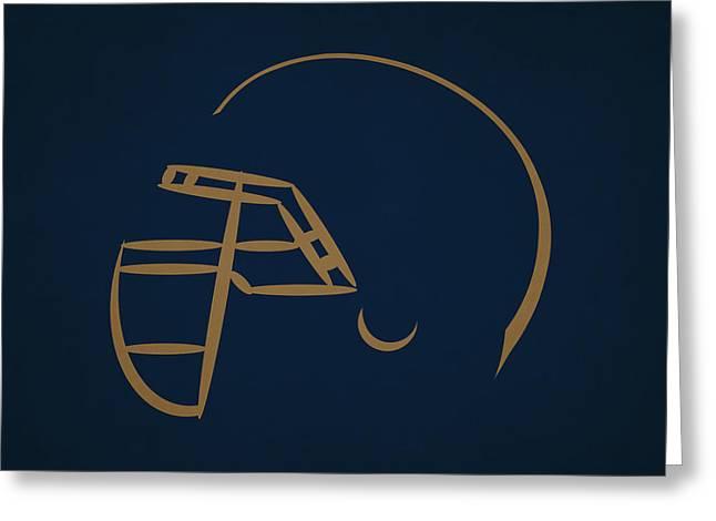 St Louis Rams Helmet Greeting Card by Joe Hamilton