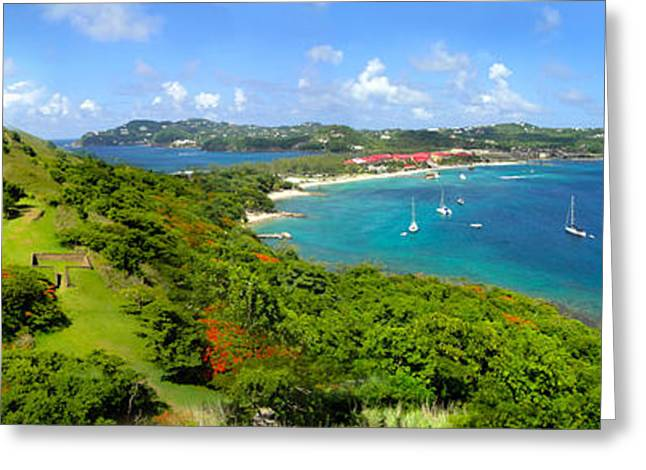 St Lucia - Rodney Bay Panorama - 01 Greeting Card