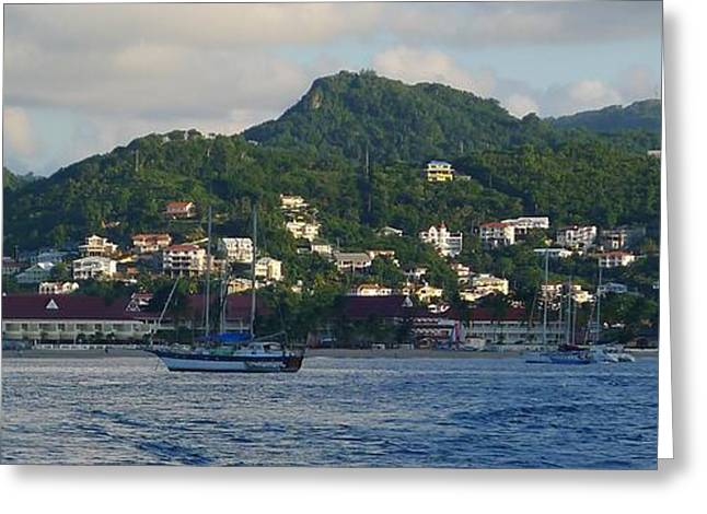 St. Lucia - Cruise - Three Boats Greeting Card