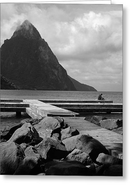 St Lucia Petite Piton 5 Greeting Card