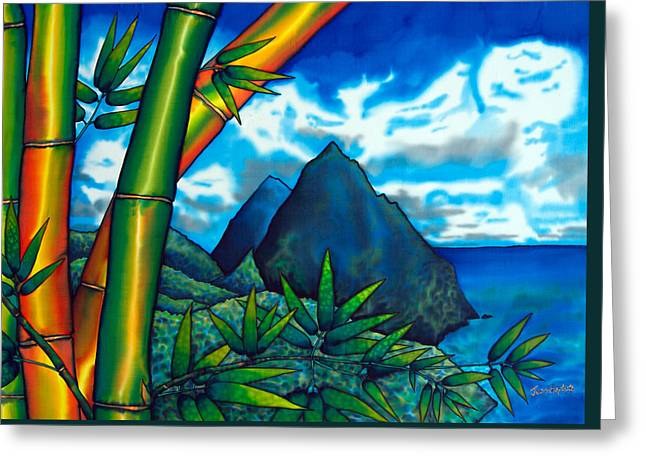 St. Lucia Pitons Greeting Card