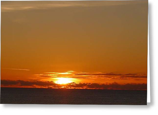St. Lucia - Sunset Greeting Card