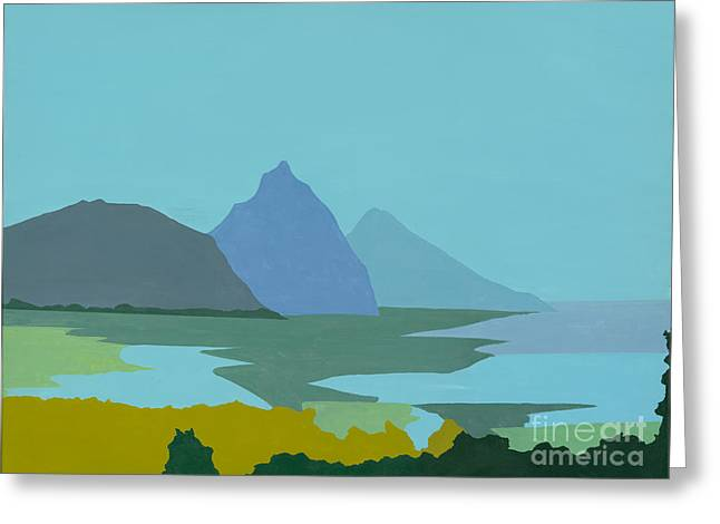 St. Lucia - W. Indies II Greeting Card by Elisabeta Hermann