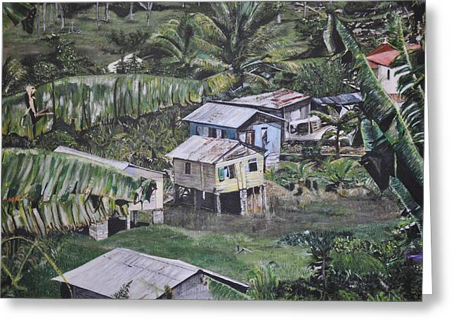 St Lucian Spot Greeting Card by Dottie branchreeves