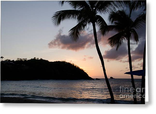 St. Lucian Sunset Greeting Card