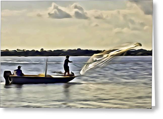 St Lucie Fishermen Greeting Card by Patrick M Lynch