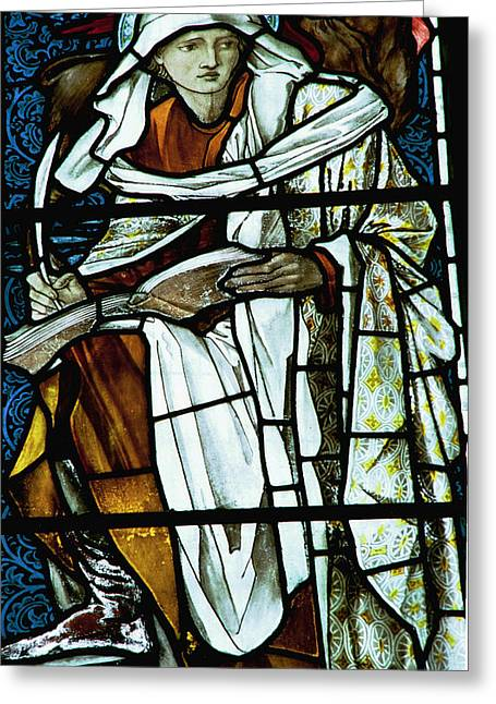 St Luke In Stained Glass Greeting Card by Philip Ralley