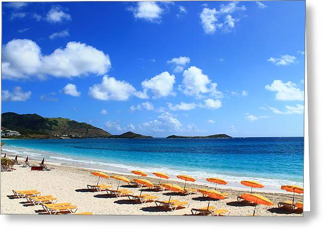 St. Maarten Calm Sea Greeting Card