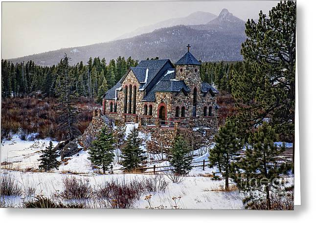 St. Malo Chapel Greeting Card by Priscilla Burgers