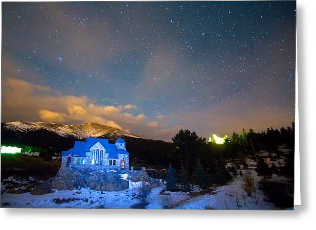 St Malos Chapel On The Rocks Starry Night View  Greeting Card by James BO  Insogna