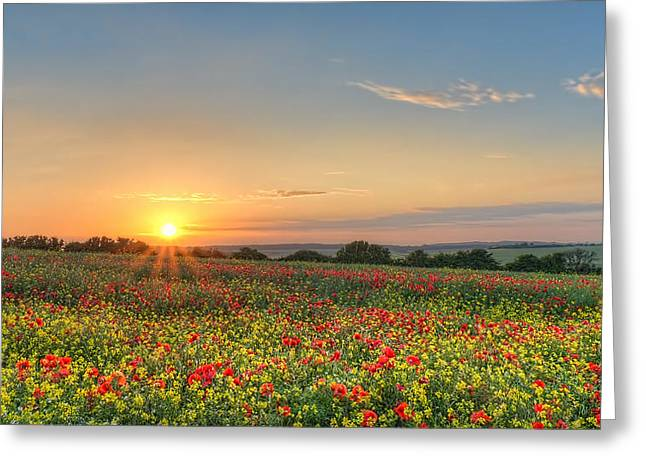 St Margarets Sunset Greeting Card