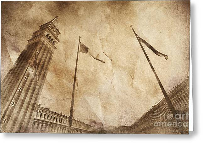 St. Marks Campanile Bell Tower Greeting Card