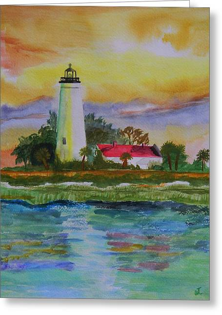 St. Marks Lighthouse-2 Greeting Card by Warren Thompson