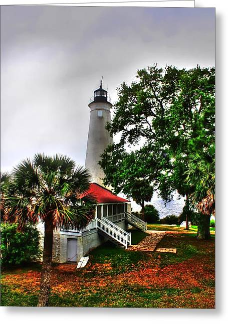 St. Marks Lighthouse  Greeting Card by Debra Forand