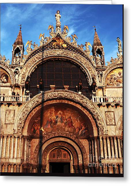 St. Marks Square Greeting Card by John Rizzuto