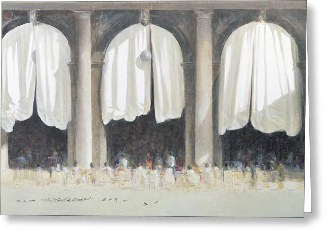 St Marks Square, Venice, 2005 Acrylic On Canvas Greeting Card by Lincoln Seligman
