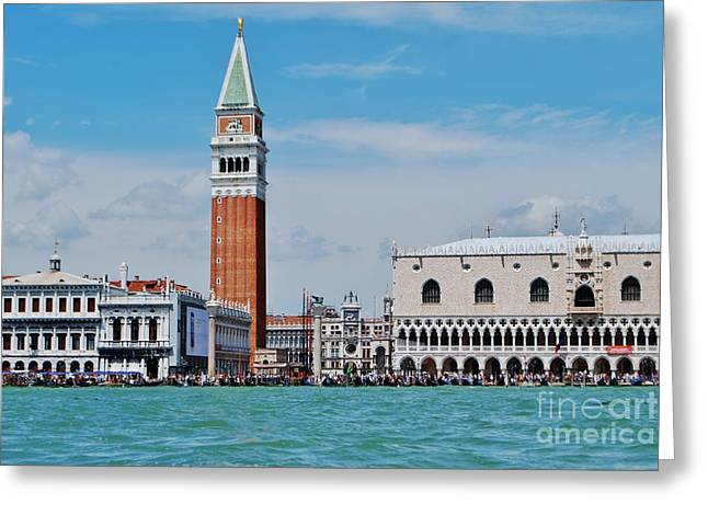 Greeting Card featuring the photograph St. Mark's Square by William Wyckoff