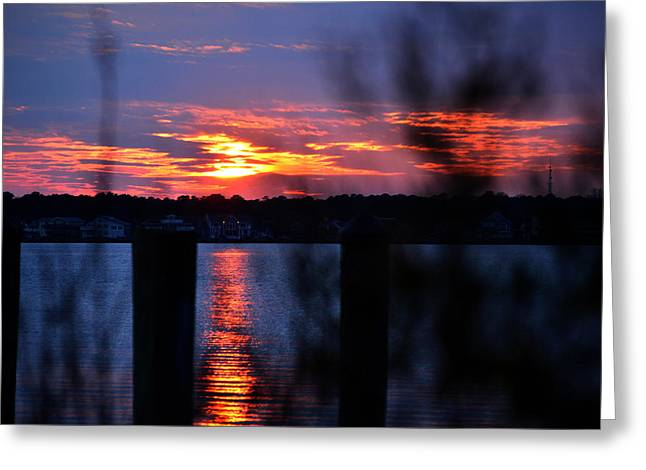 Greeting Card featuring the photograph St. Marten River Sunset by Bill Swartwout