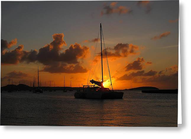 St. Martin Sunset Greeting Card by Randolph Fritz