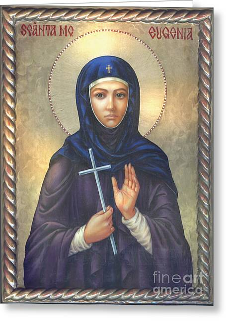 St. Martyr Eugenia Greeting Card by Zorina Baldescu