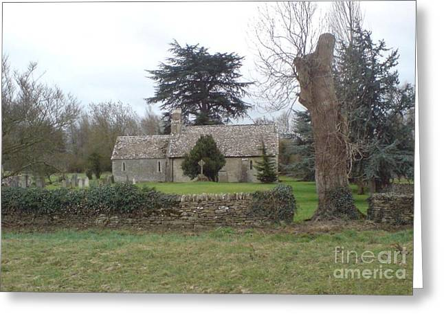 St Mary Church Ampney Greeting Card by John Williams