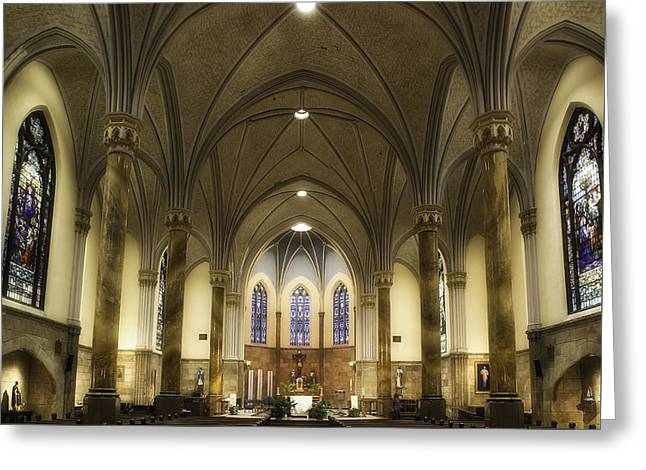 Greeting Card featuring the photograph St Mary's Catholic Church by Lynn Geoffroy