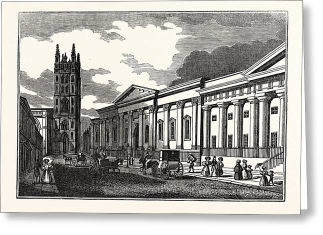 St. Marys Church, And The Townhall Greeting Card