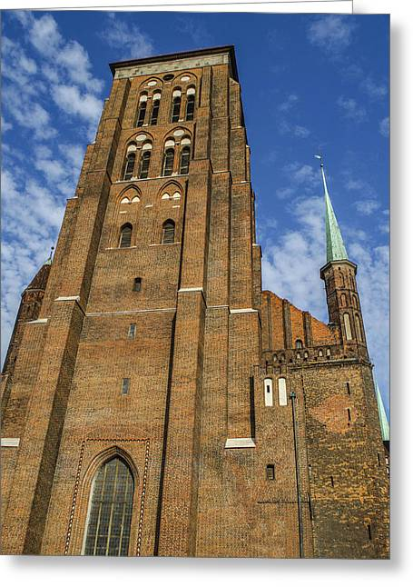 St. Mary's Church In Gdansk Greeting Card by Adam Budziarek