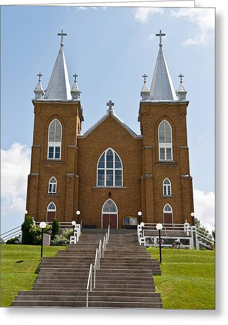 Greeting Card featuring the photograph St Mary's Church In Wilno Ontario Canada by Marek Poplawski