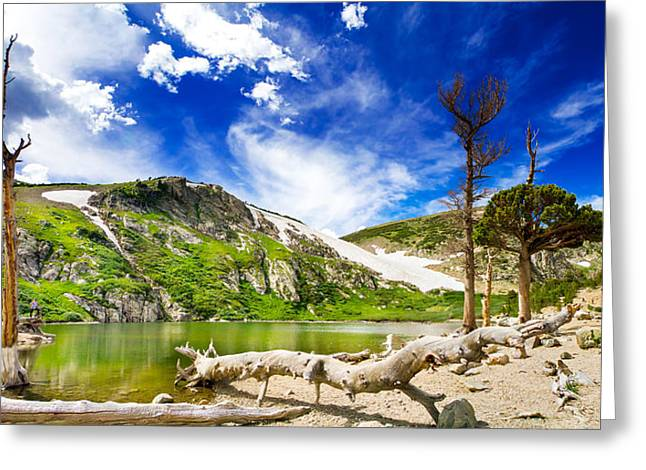 St. Mary's Glacier Greeting Card by Mark Andrew Thomas